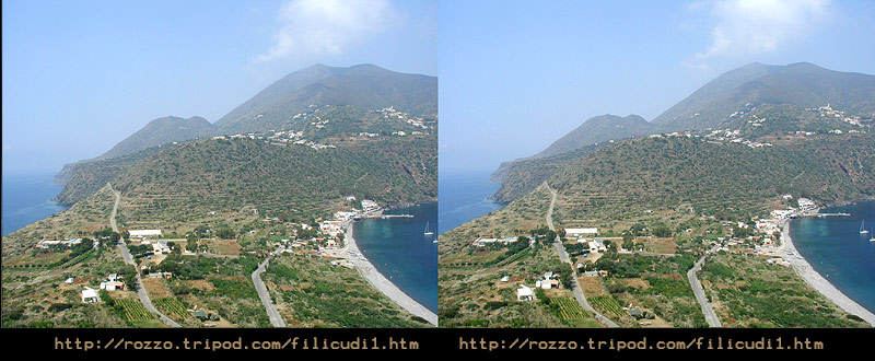 Filicudi Capo Graziano and Porto stereoscopic view
